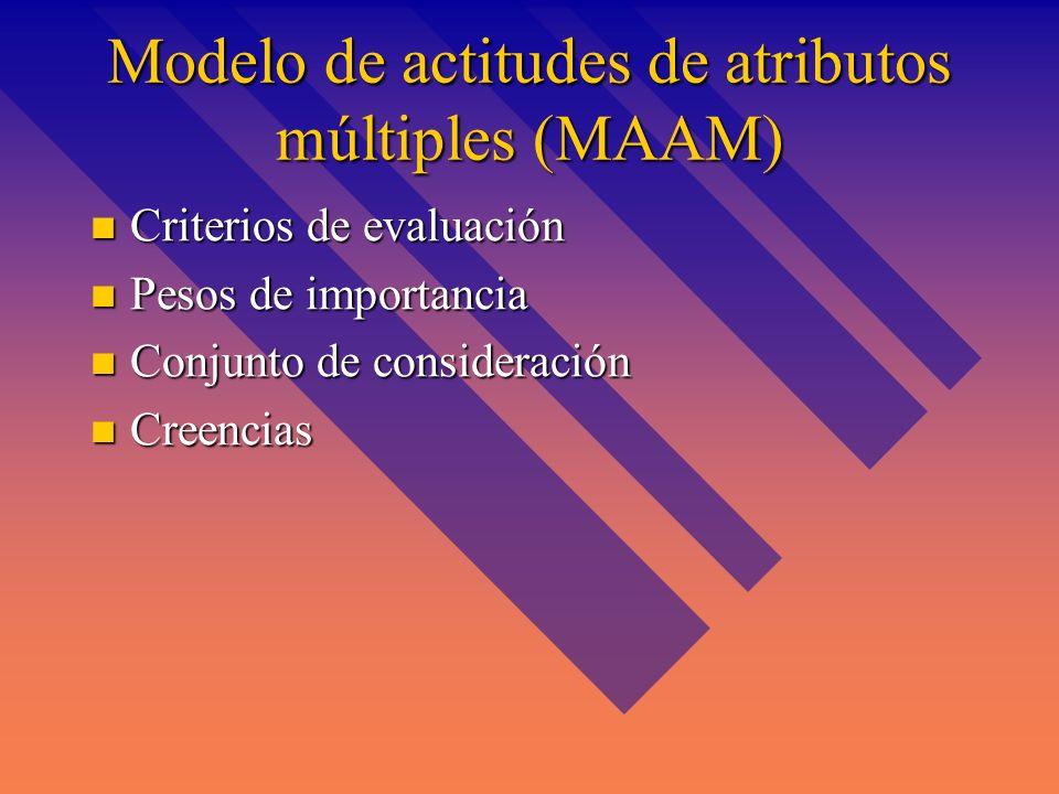 Modelo de actitudes de atributos múltiples (MAAM)