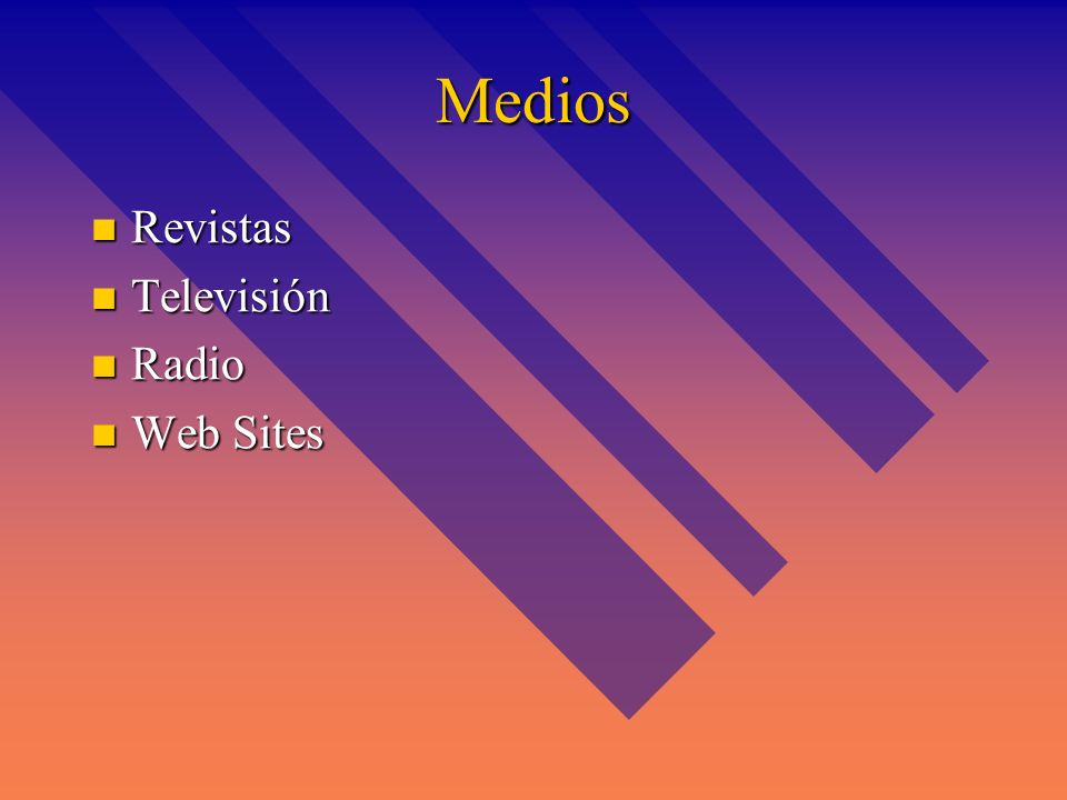 Medios Revistas Televisión Radio Web Sites