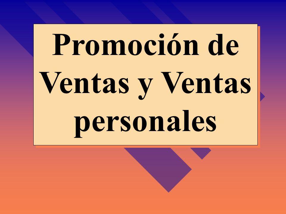 Promoción de Ventas y Ventas personales