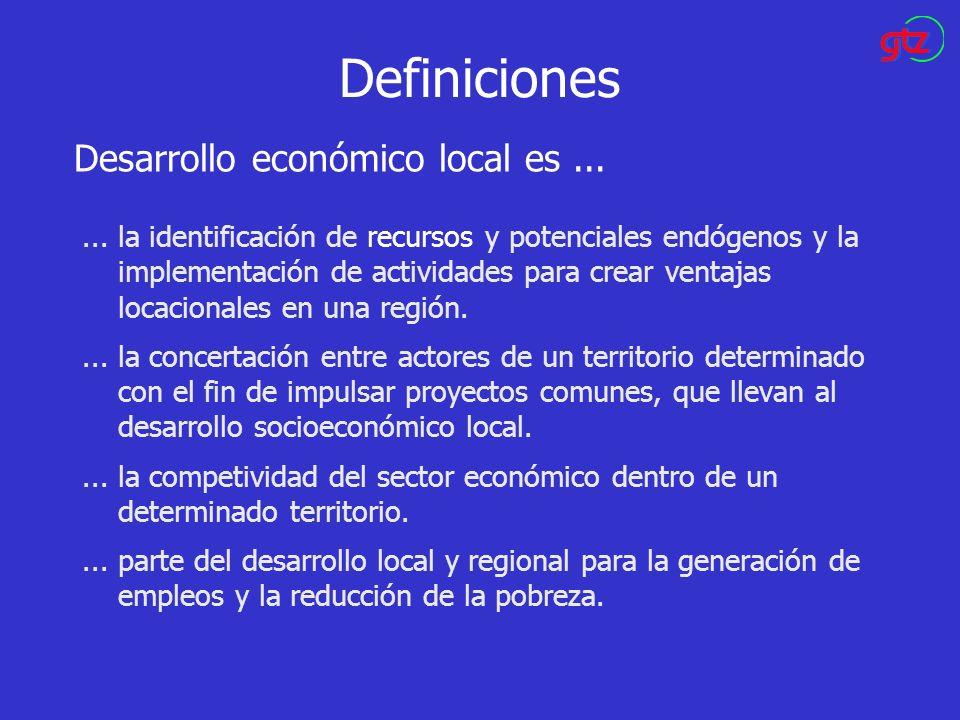 Definiciones Desarrollo económico local es ...