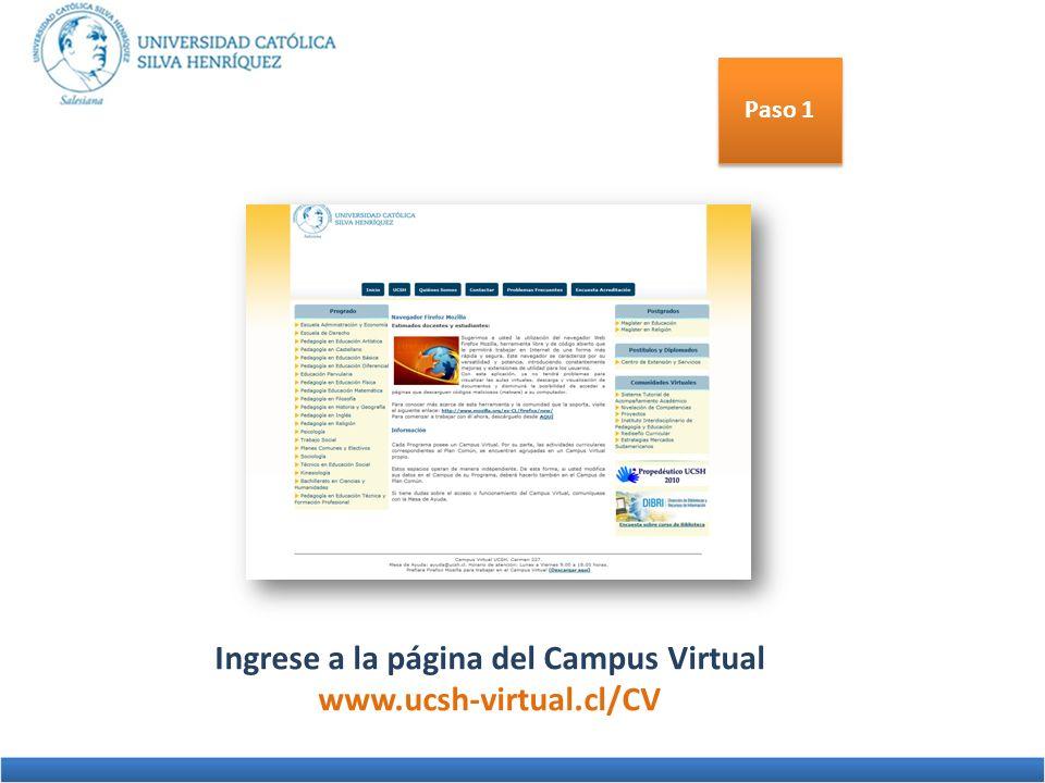 Ingrese a la página del Campus Virtual