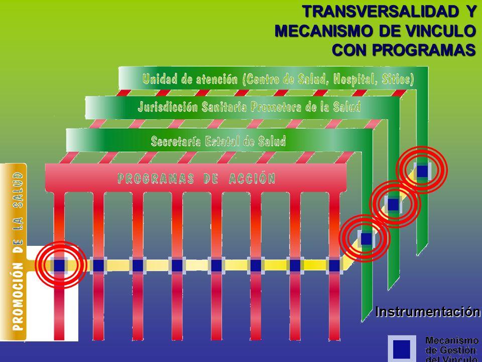 TRANSVERSALIDAD Y MECANISMO DE VINCULO CON PROGRAMAS