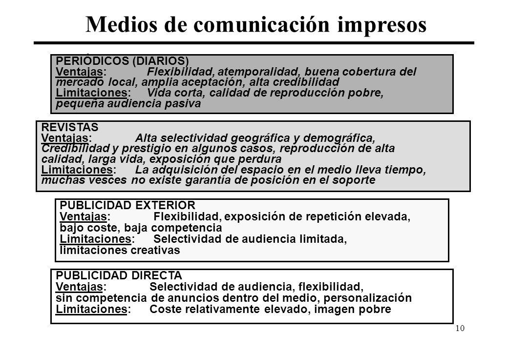 Medios de comunicación impresos