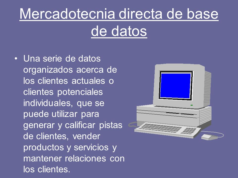 Mercadotecnia directa de base de datos