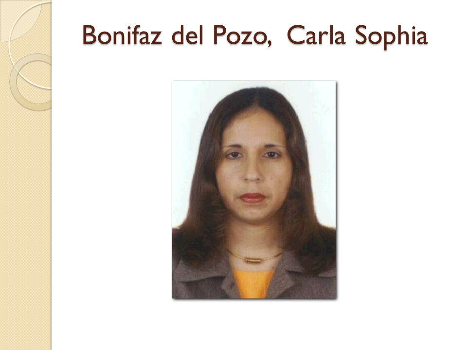 Bonifaz del Pozo, Carla Sophia