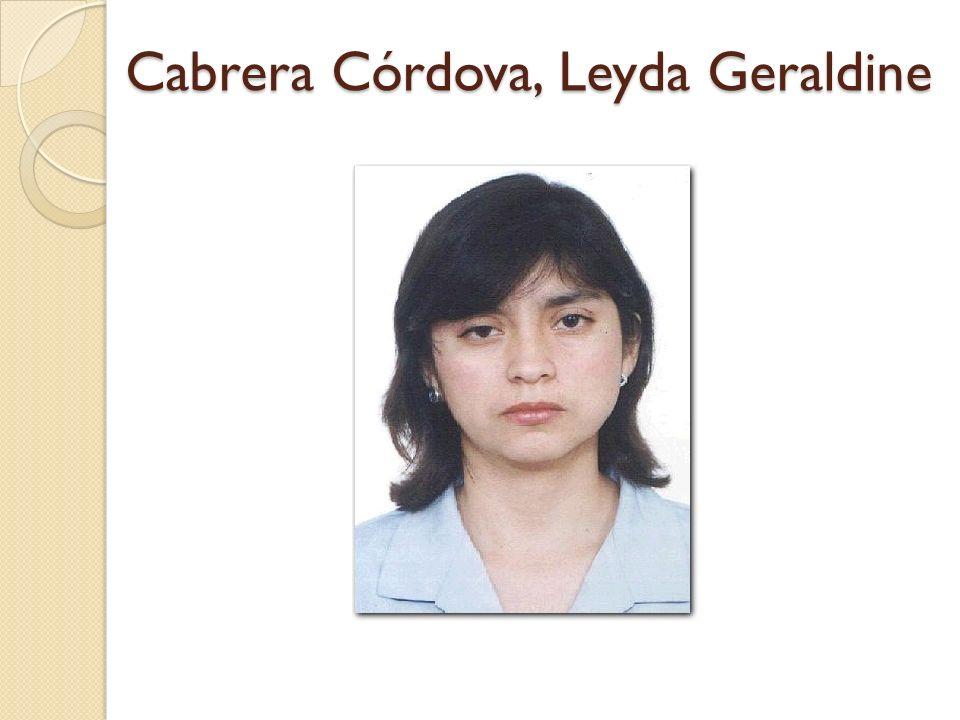Cabrera Córdova, Leyda Geraldine
