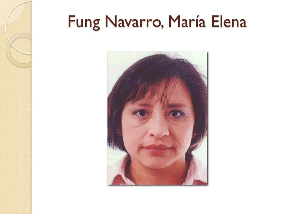 Fung Navarro, María Elena