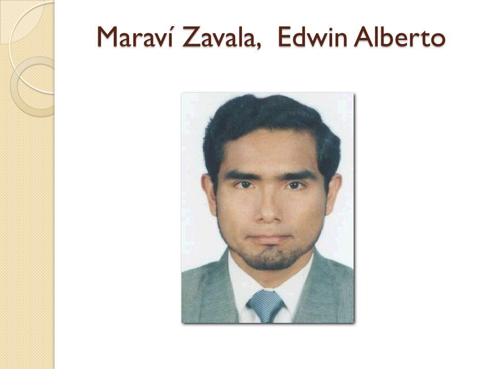 Maraví Zavala, Edwin Alberto
