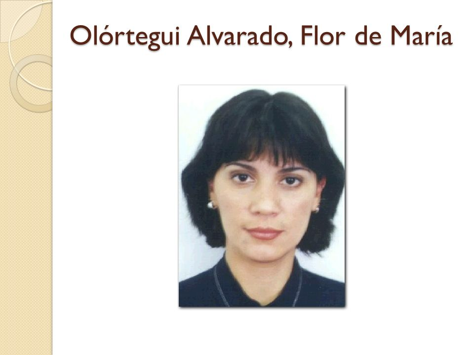 Olórtegui Alvarado, Flor de María