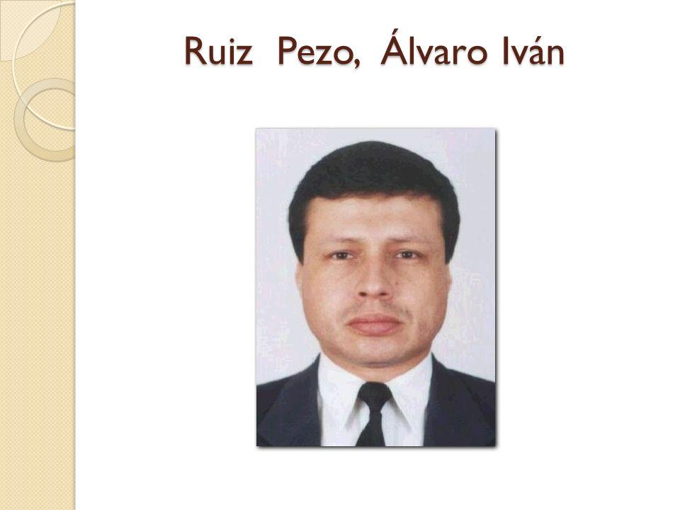 Ruiz Pezo, Álvaro Iván