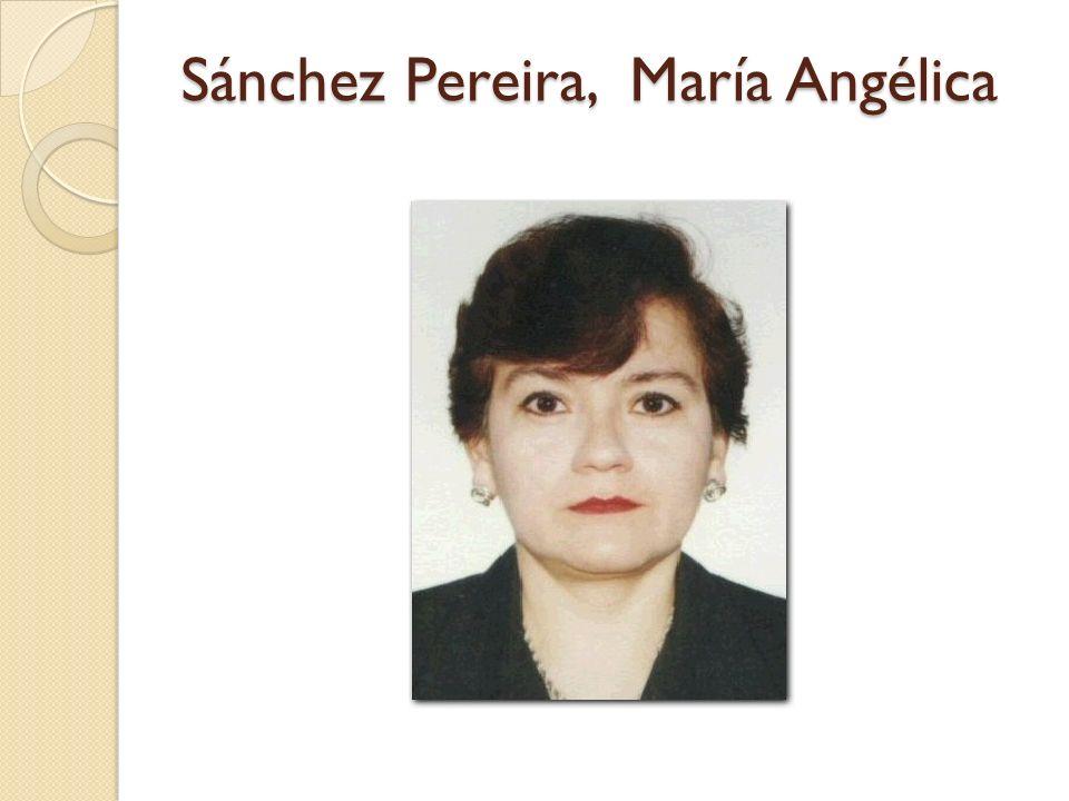 Sánchez Pereira, María Angélica