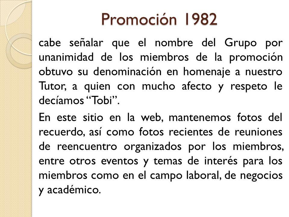 Promoción 1982
