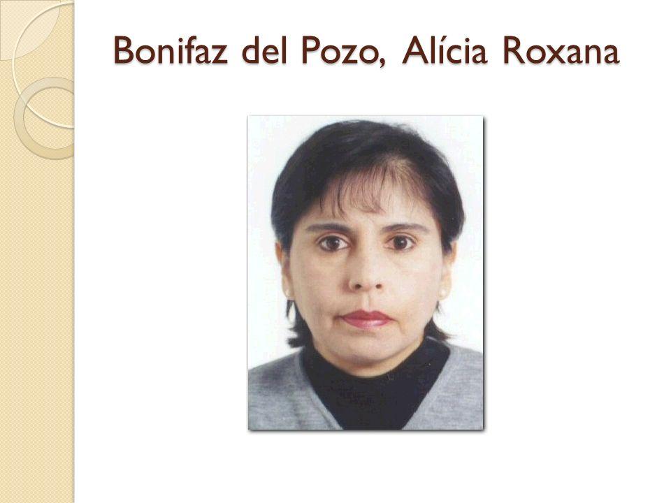 Bonifaz del Pozo, Alícia Roxana