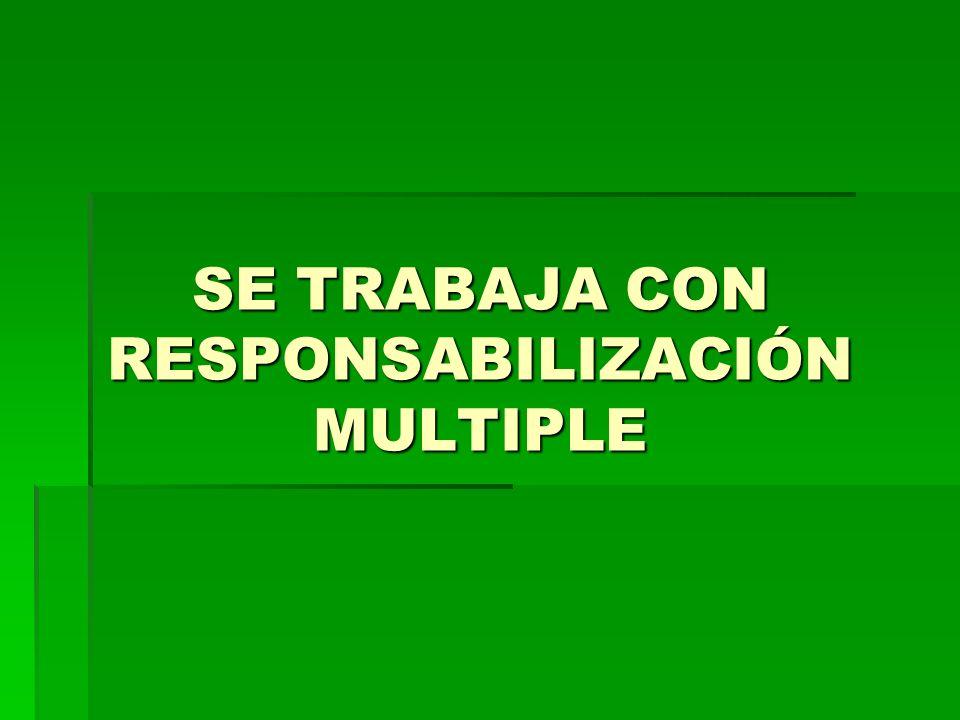 SE TRABAJA CON RESPONSABILIZACIÓN MULTIPLE