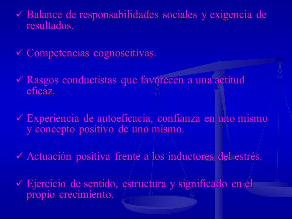 Balance de responsabilidades sociales y exigencia de resultados.