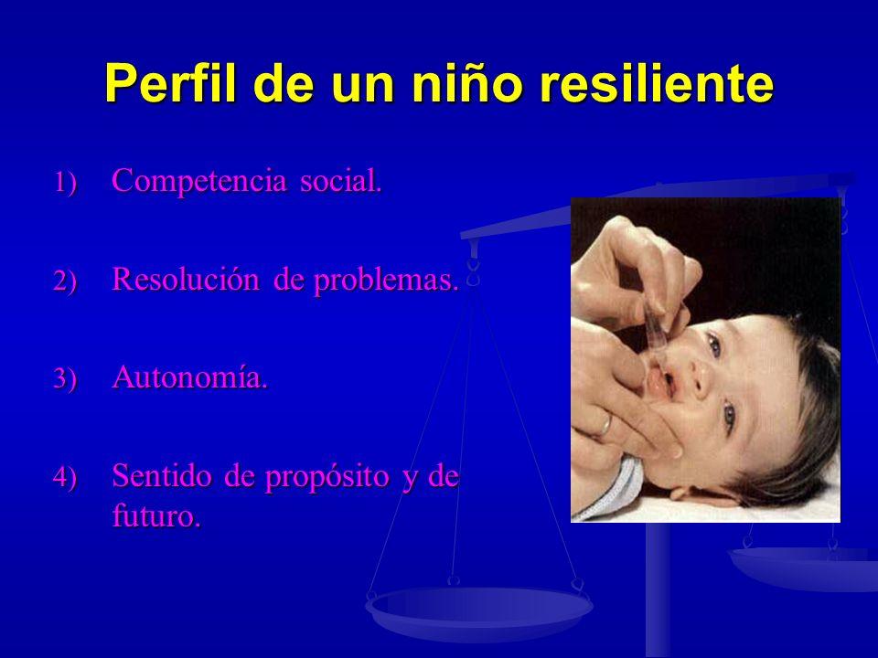 Perfil de un niño resiliente