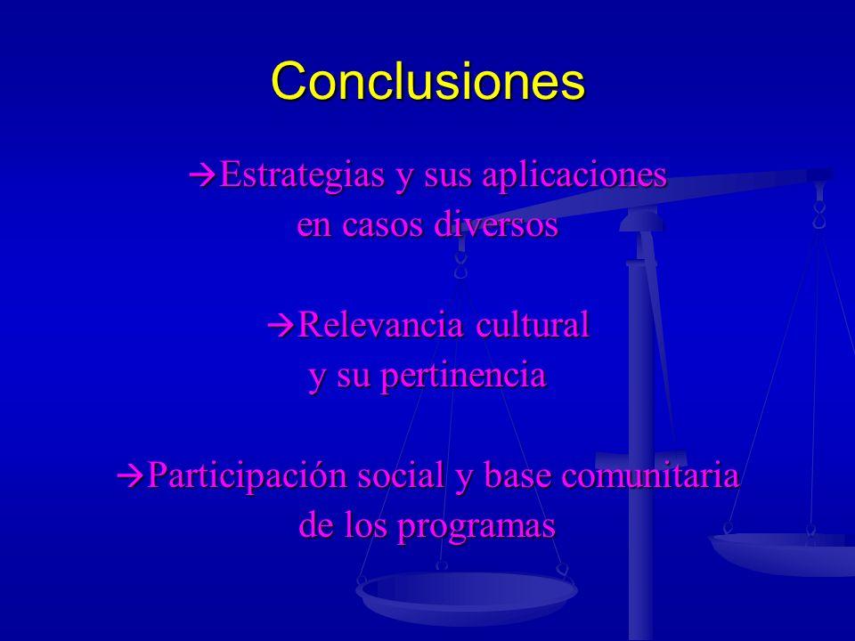 Conclusiones Estrategias y sus aplicaciones en casos diversos