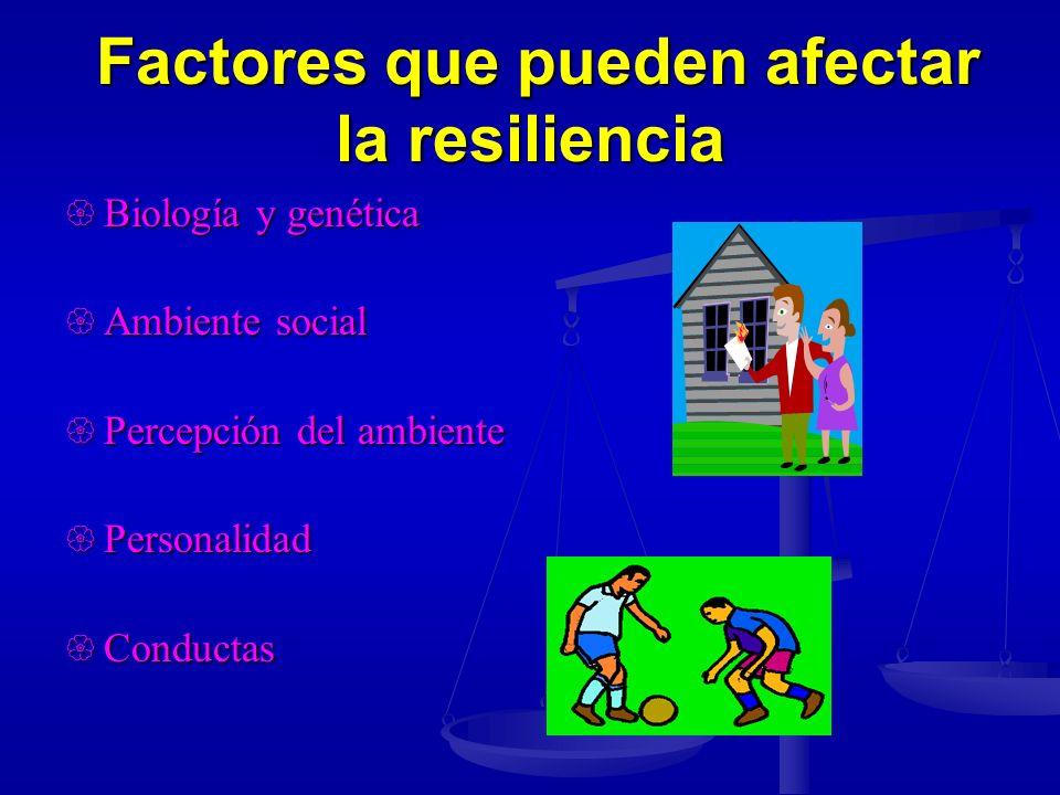 Factores que pueden afectar la resiliencia