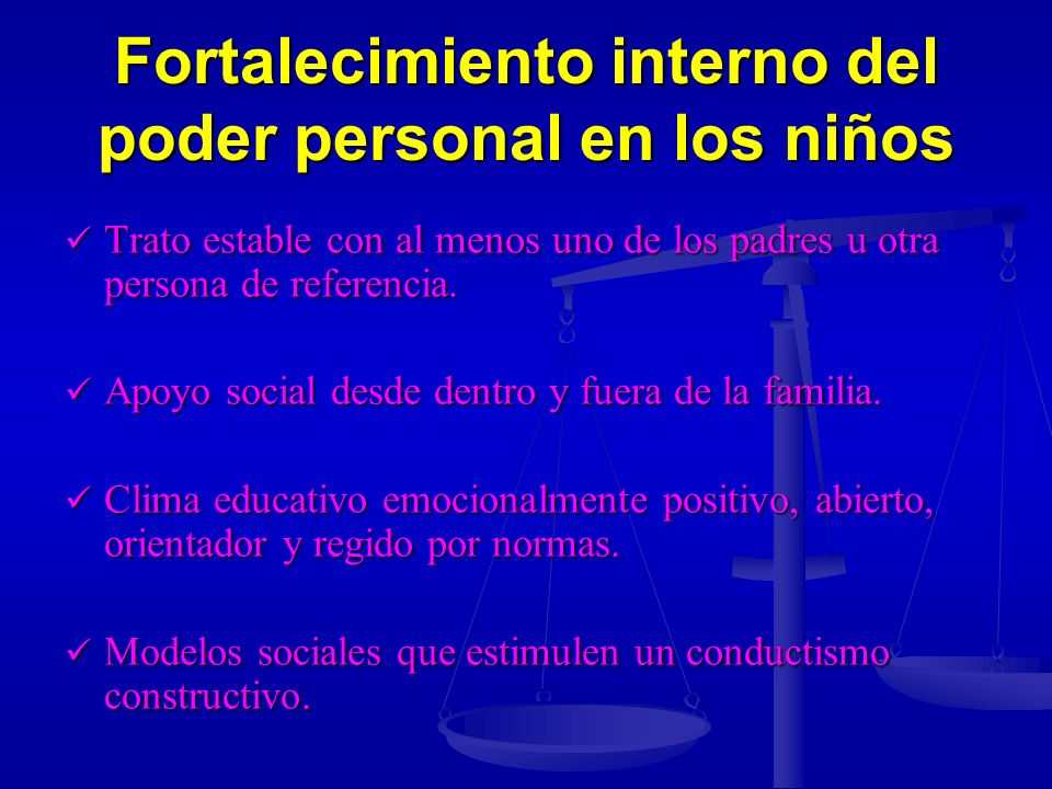 Fortalecimiento interno del poder personal en los niños