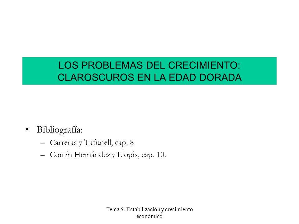 LOS PROBLEMAS DEL CRECIMIENTO: CLAROSCUROS EN LA EDAD DORADA