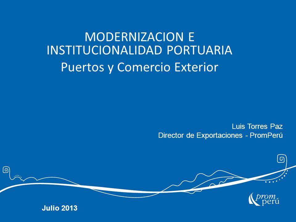 MODERNIZACION E INSTITUCIONALIDAD PORTUARIA