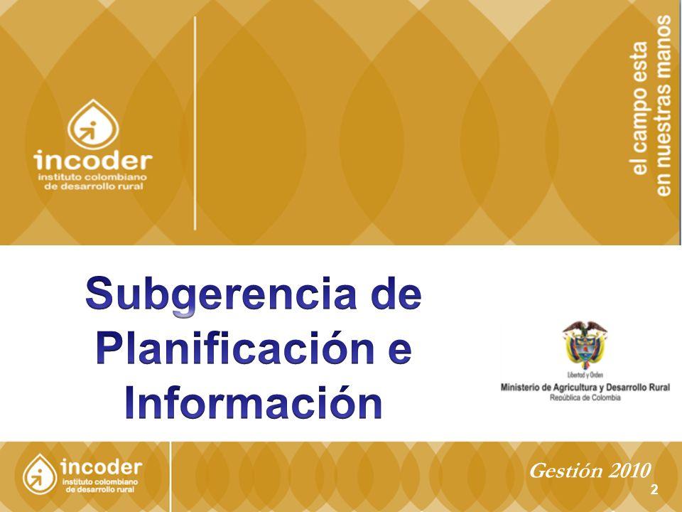 Subgerencia de Planificación e Información