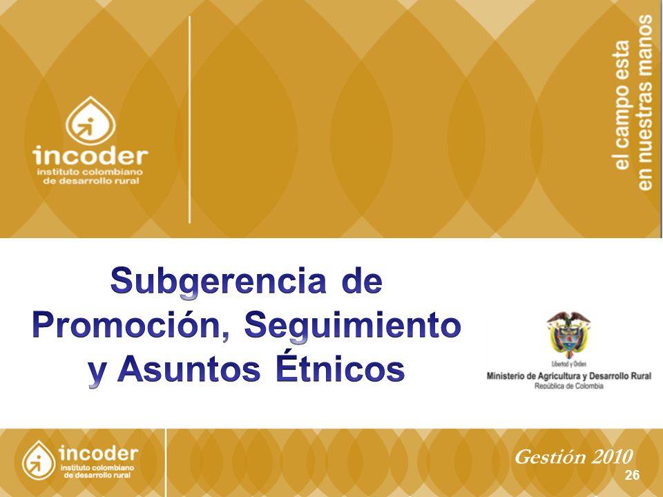 Subgerencia de Promoción, Seguimiento y Asuntos Étnicos