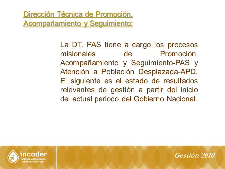 Dirección Técnica de Promoción, Acompañamiento y Seguimiento: