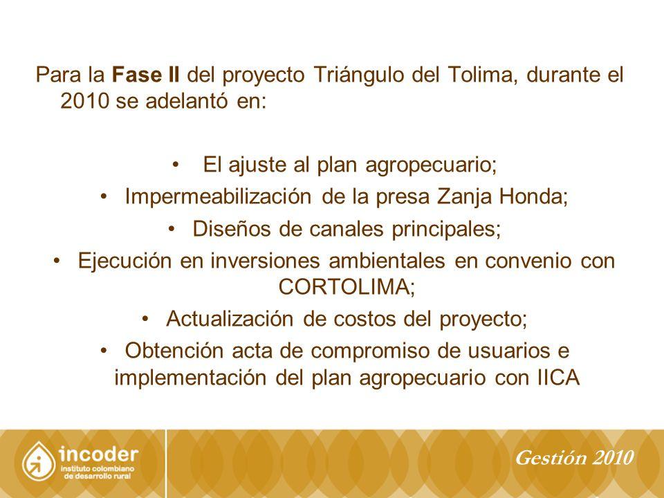 El ajuste al plan agropecuario;