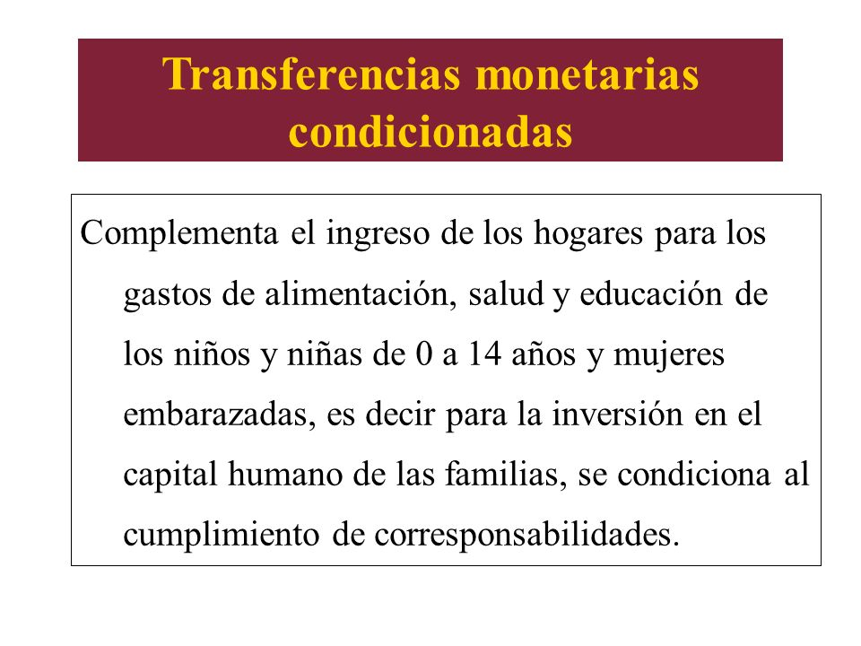 Transferencias monetarias condicionadas