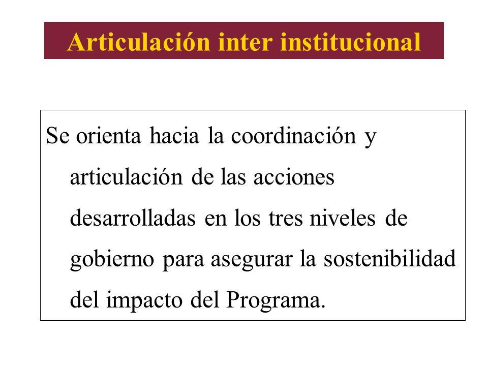 Articulación inter institucional