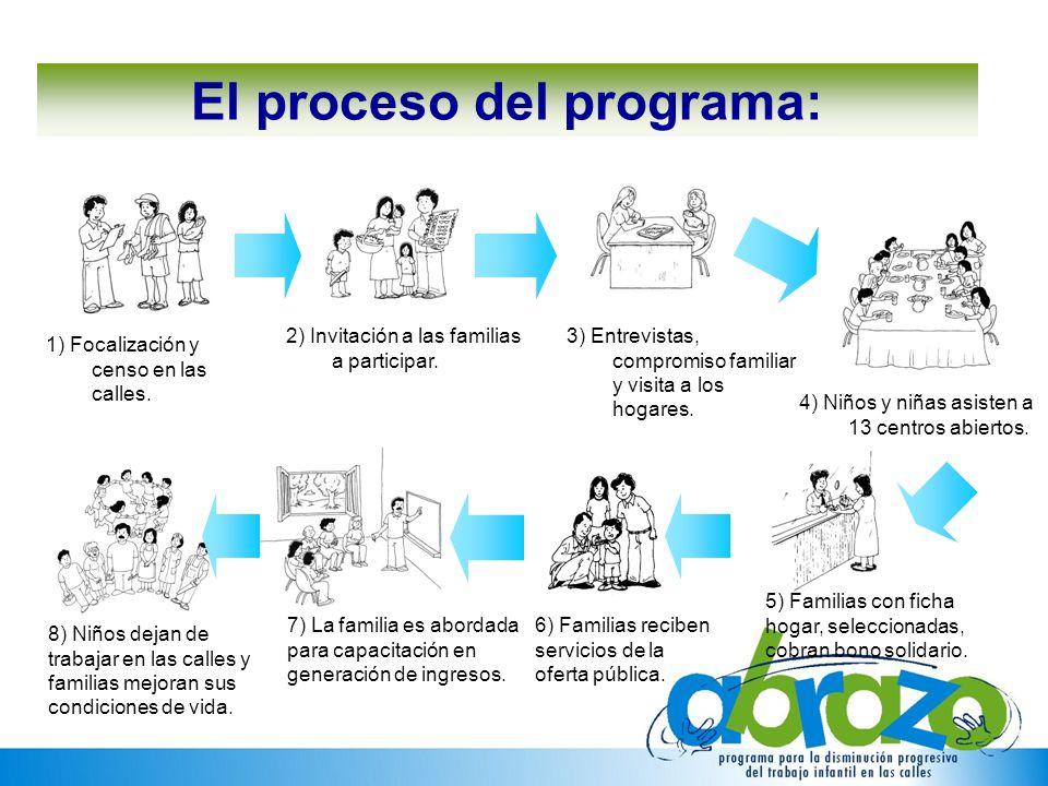 El proceso del programa: