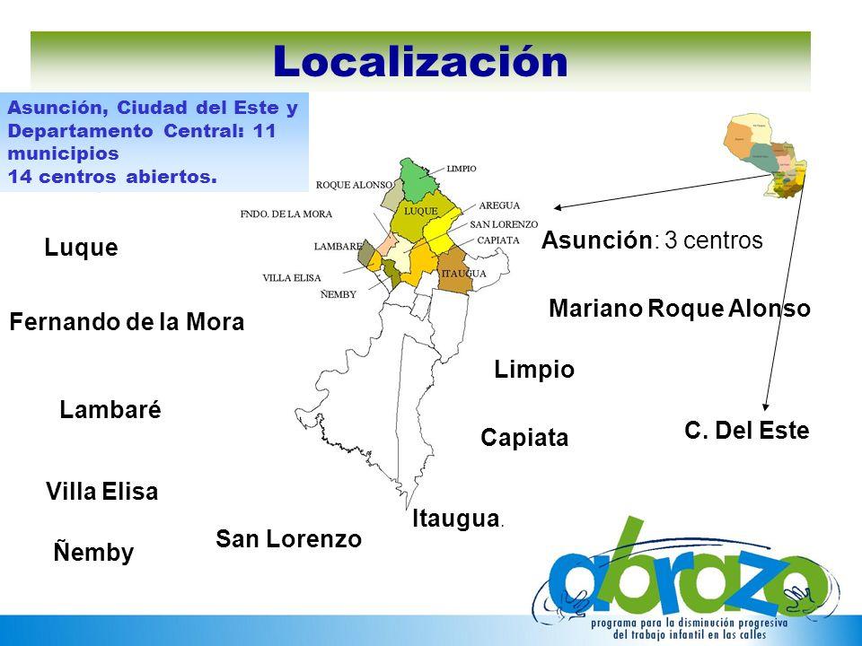 Localización Asunción: 3 centros Luque Mariano Roque Alonso