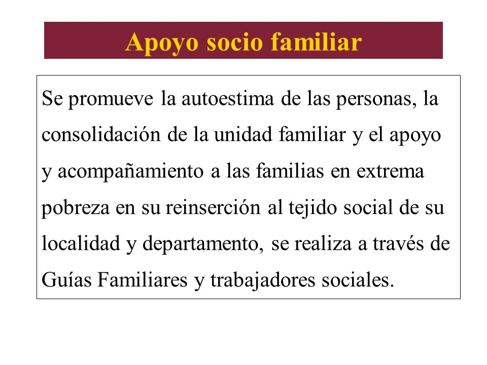 Apoyo socio familiar