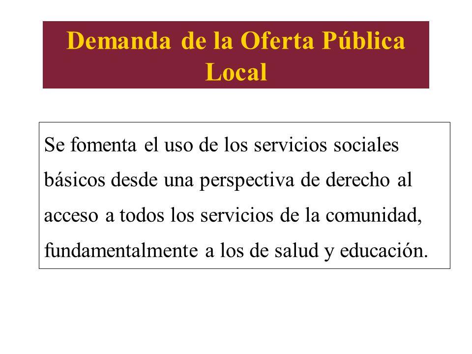 Demanda de la Oferta Pública Local