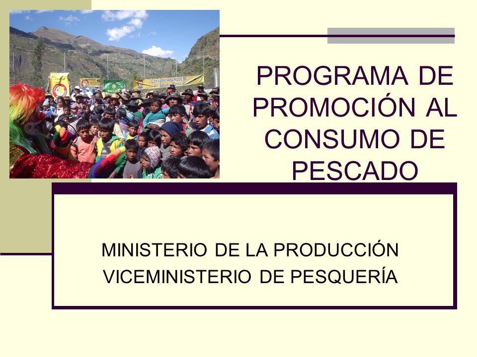 PROGRAMA DE PROMOCIÓN AL CONSUMO DE PESCADO