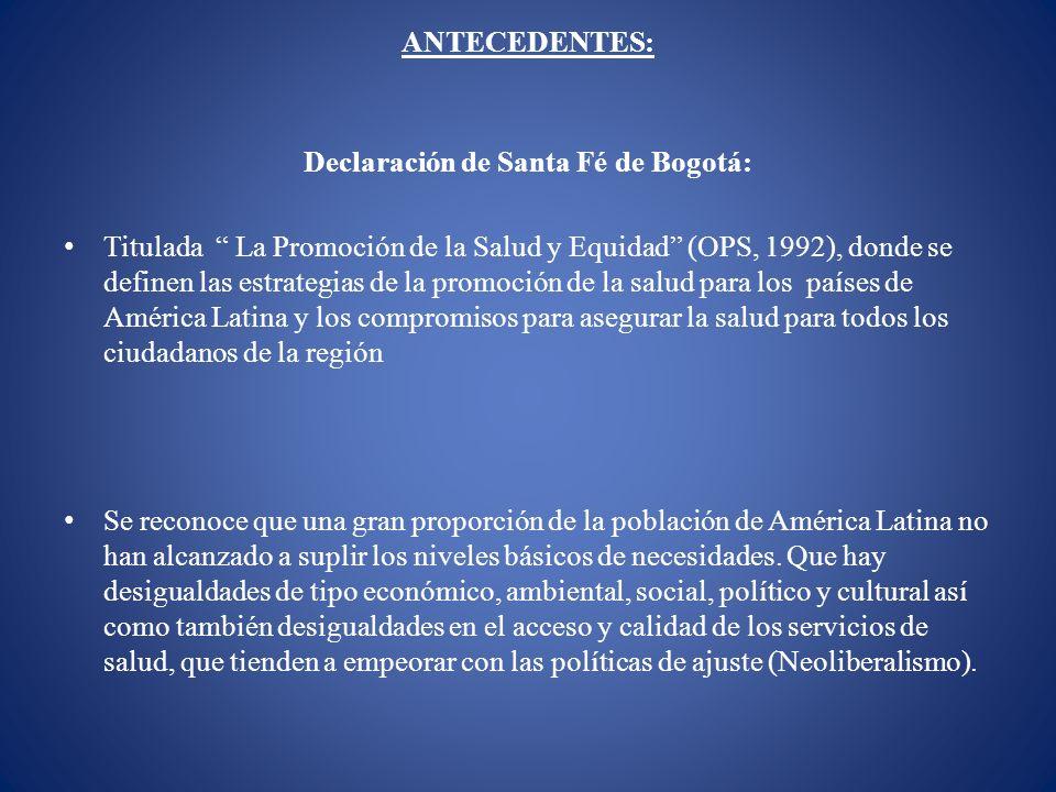 Declaración de Santa Fé de Bogotá:
