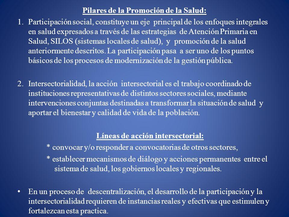 Pilares de la Promoción de la Salud: