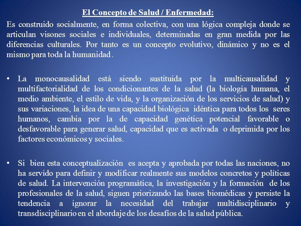 El Concepto de Salud / Enfermedad:
