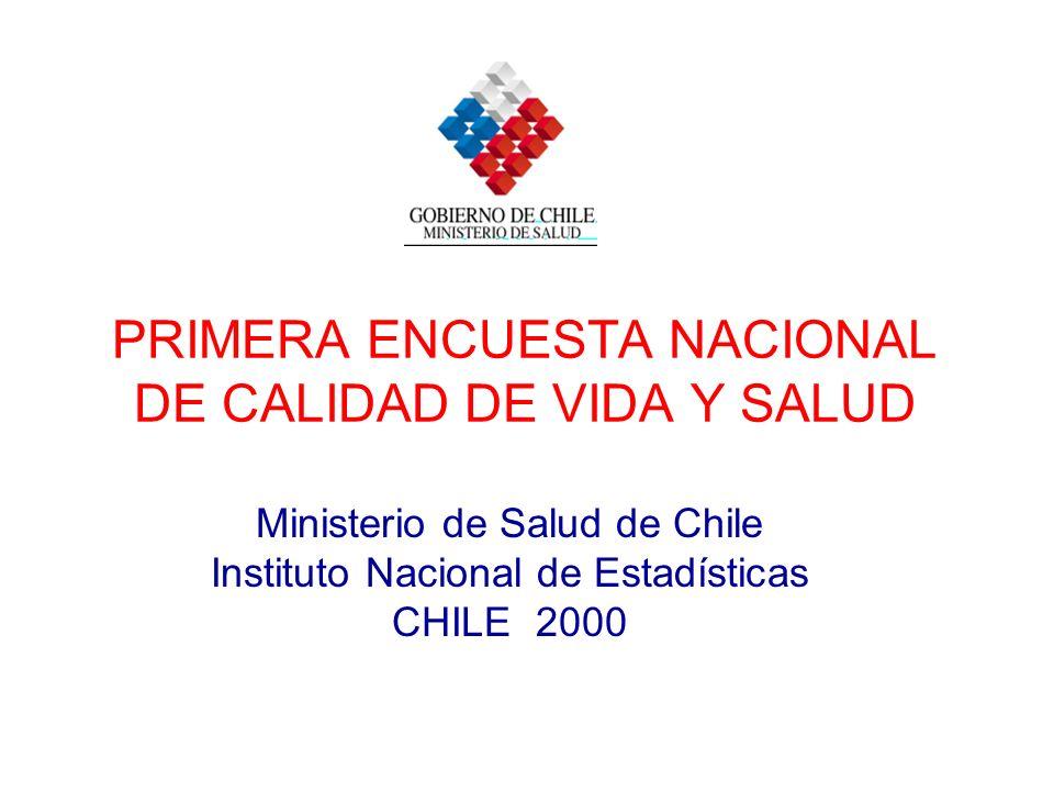 PRIMERA ENCUESTA NACIONAL DE CALIDAD DE VIDA Y SALUD