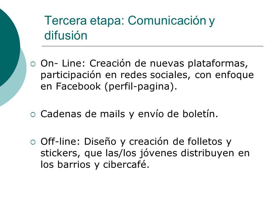 Tercera etapa: Comunicación y difusión