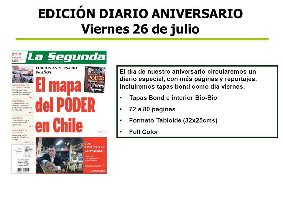 EDICIÓN DIARIO ANIVERSARIO Viernes 26 de julio
