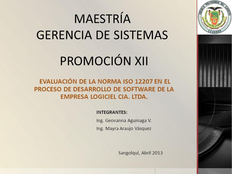 MAESTRÍA GERENCIA DE SISTEMAS PROMOCIÓN XII
