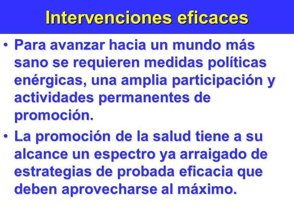 Intervenciones eficaces