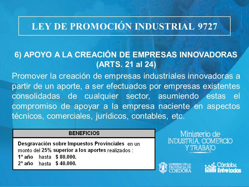 LEY DE PROMOCIÓN INDUSTRIAL 9727