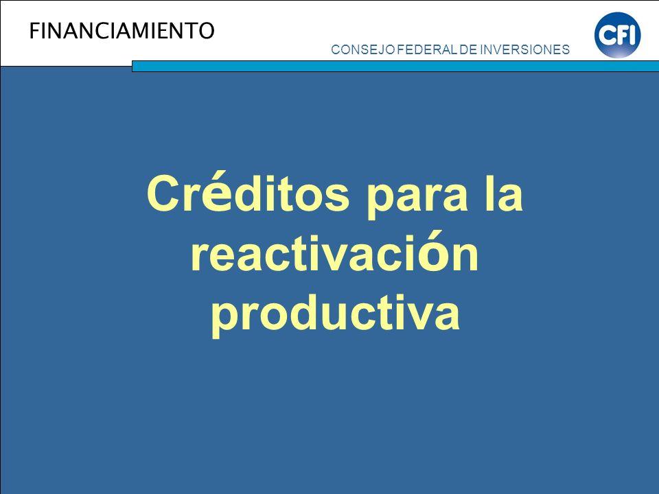 Créditos para la reactivación productiva