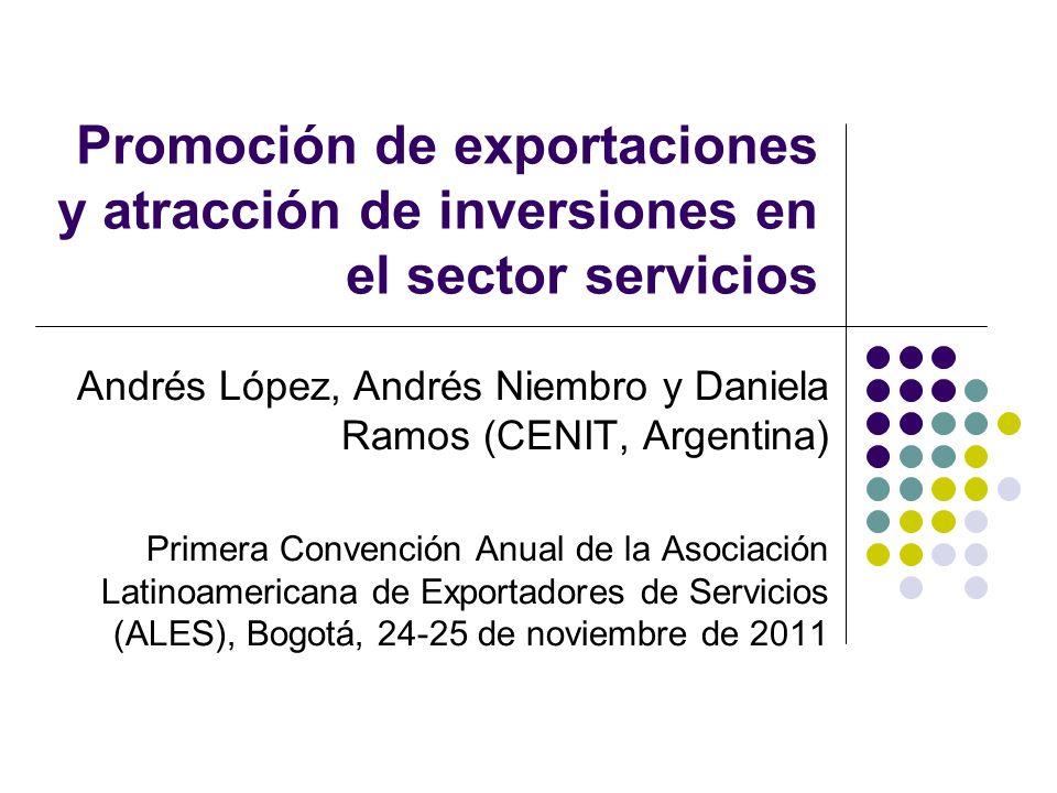 Promoción de exportaciones y atracción de inversiones en el sector servicios