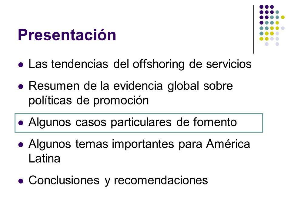 Presentación Las tendencias del offshoring de servicios