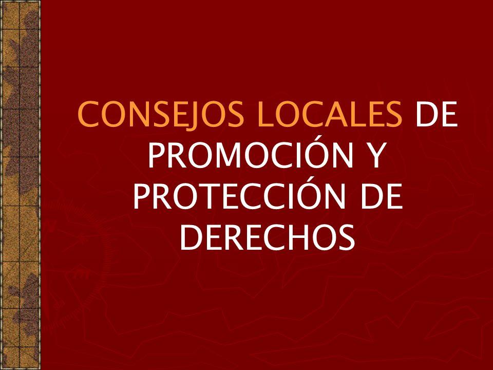 CONSEJOS LOCALES DE PROMOCIÓN Y PROTECCIÓN DE DERECHOS
