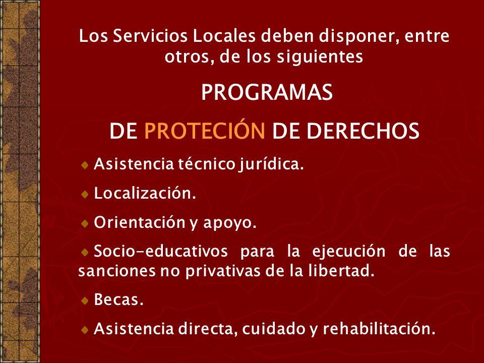 DE PROTECIÓN DE DERECHOS